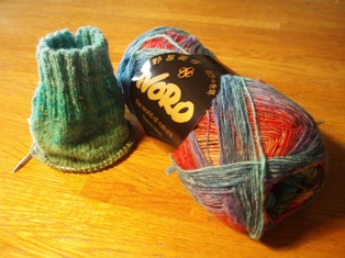 Knitting noro sock