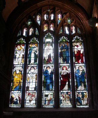 William Morris window, St Eustachius Parish Church, Tavistock
