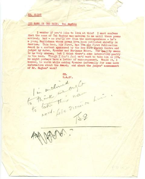 Faber eliot letter