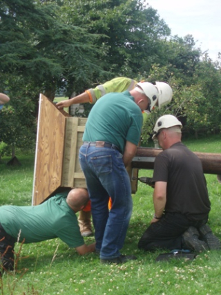 Installing a pole box for barn owls