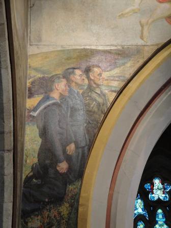 detail from chancel arch, Berwick Church