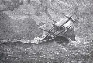 HMS_Eurydice foundering off  the Isle of Wight 1878