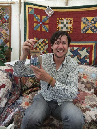 Patrick Barkham with his knitsuki