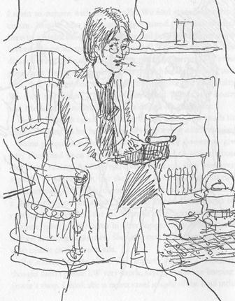 Virginia Woolf typing