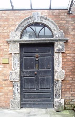 The Eccles Street front door...
