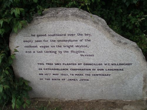 James Joyce centenary stone