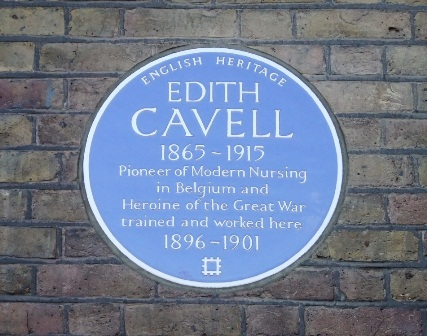 London Hospital Edith Cavell ec plaque