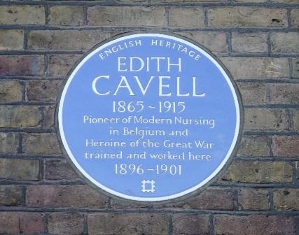 London Hospital Edith Cavell ec plaque