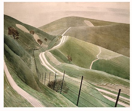 Chalk Paths, 1935. © Estate of Eric Ravilious