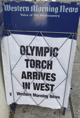 Torch relay sign