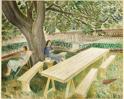 Tow Women in a Garden ~ Eric Ravilious (private collection...but wish it was mine)