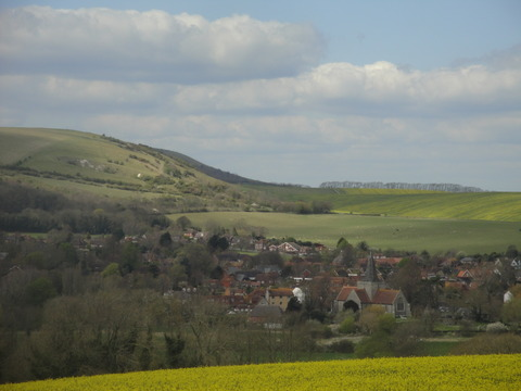 From the Long Man..looking towards Alfriston