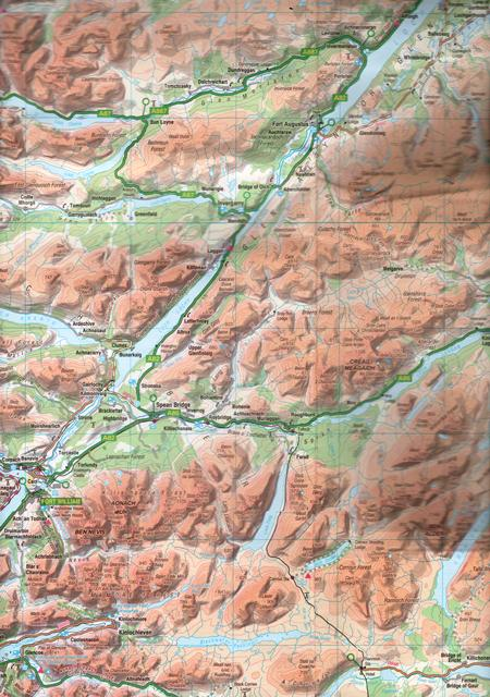 OS MAP - The Great Glen