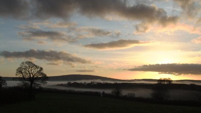 Kit hill sunset jan 13-12