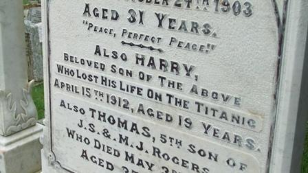 Titanic grave c-up