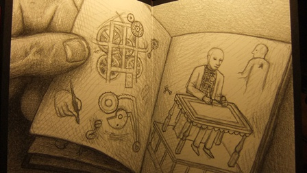 Image from The Invention of Hugo Cabret ~ Brian Selznick