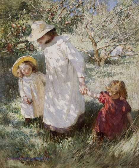 In The Orchard ~ Laura Knight