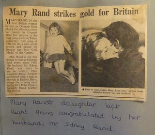 Olympics 64 Mary Rand's daughter