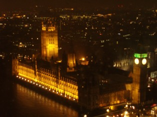 Taken from the top of the London Eye by me!