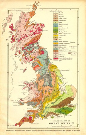 Geological map of the British Isles