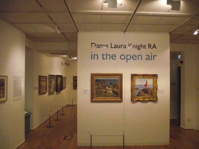 Dame Laura Knight ' In the Open Air' exhibiton, Penlee House Gallery, Penzance, Cornwall