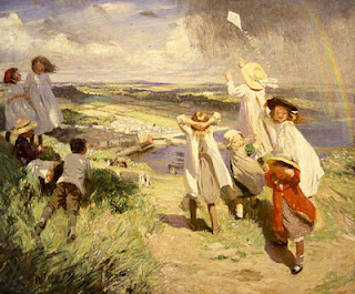 Flying a Kite ~ Dame Laura Knight
