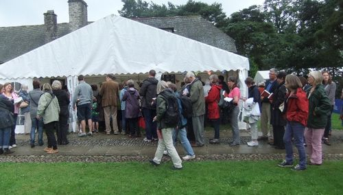Hilary Mantel...the signing queue