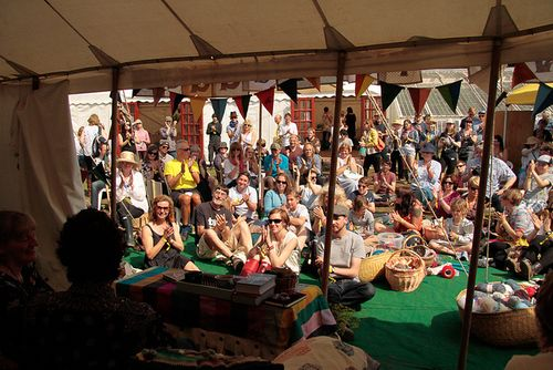 Brian Selznick at the dovegreyreader tent Port Eliot 2012
