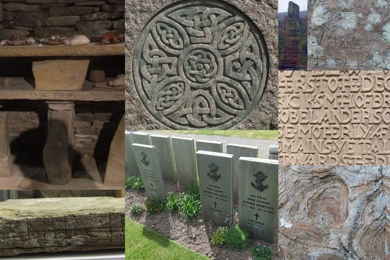 Orkney stones collage