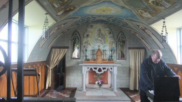 Orkney 2012 italian chapel + priest