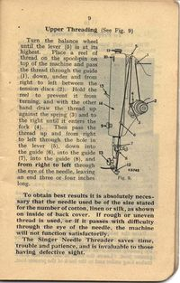 Singer Sewing Machine 201K Instruction book