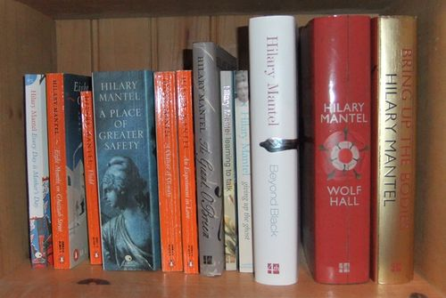 Hilary Mantel shelf