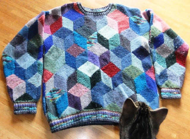 Kaffe Fassett ~ Tumbling Blocks jumper