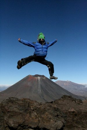The Kayaker leaps over Mount Doom