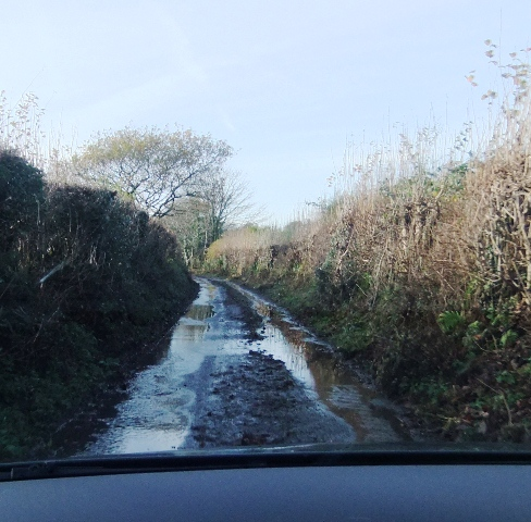 Waterlogged lane