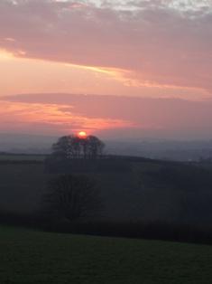 Winter solstice sunset