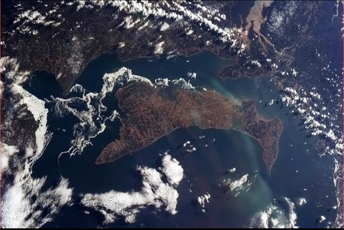 Prince Edward Island from the ISS - Copyright Cdr Chris Hadfield