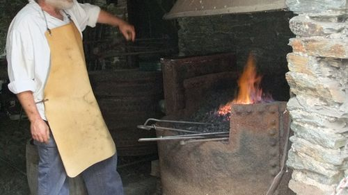 Morwellham's blacksmith