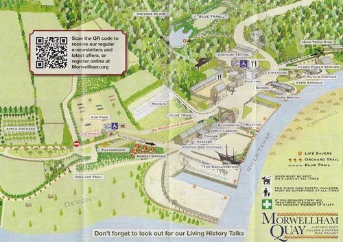Morwellham map
