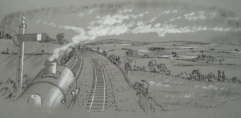 Adlestrop art work by Harold Page