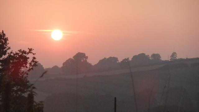 August sunset..