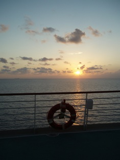 Cruise sunrise