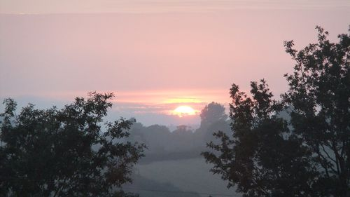 September sunset in the Tamar Valley