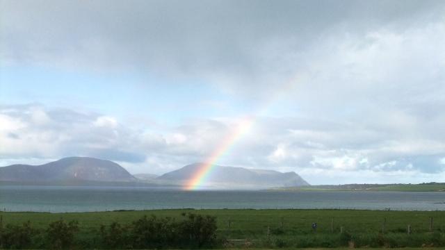 Orkney 2012 rainbow + hoy