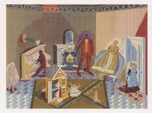 The Dolls at Home ~ Edward Bawden