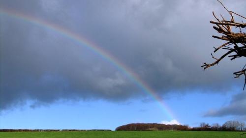 December 13 christmas + rainbow