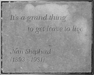 Nan Shepherd's memorial stone, Edinburgh
