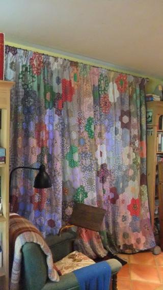 The Green Knowe door curtain