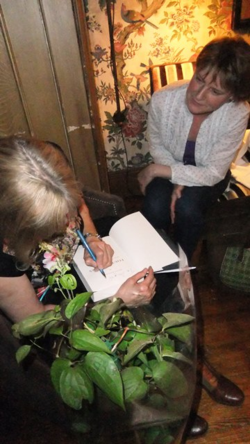 Helen Rappaport signing our books at the Endsleigh Salon