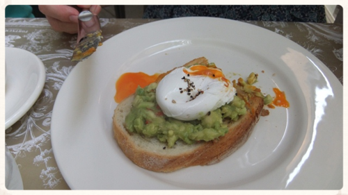 ...and poached egg